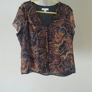 Coldwater creek floral blouse